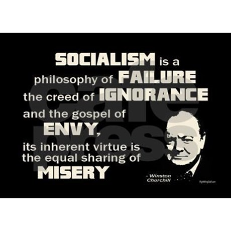 churchill_socialism_quote_rectangle_magnet